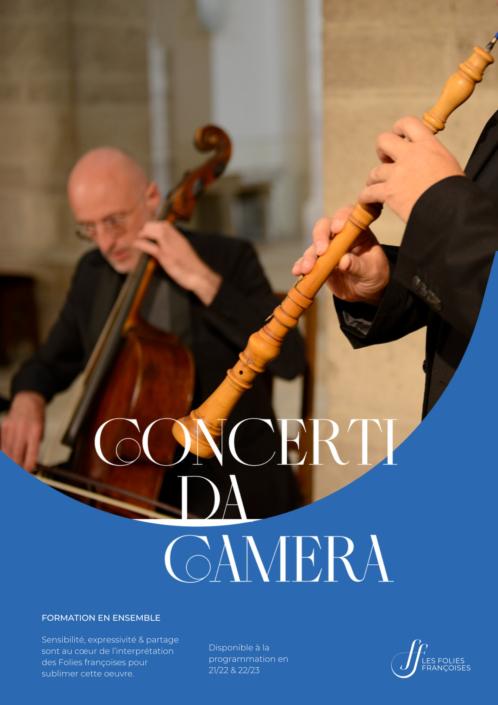 """Programme """"Concerti da Camera"""" - Folies françoises"""