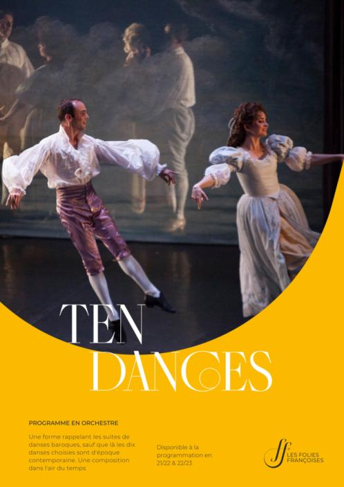 """Programme """"Ten Dances"""" - Folies françoises"""