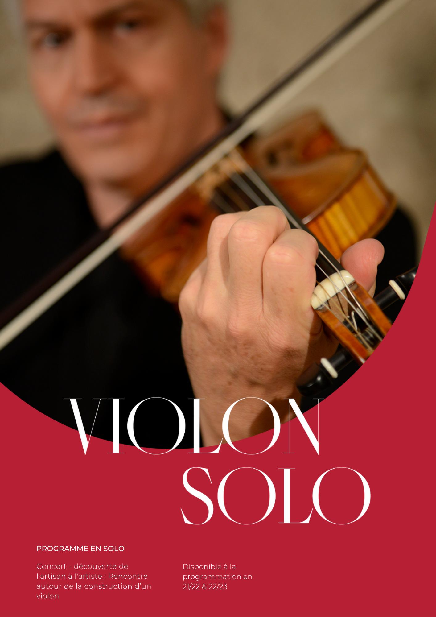 """Programme """"Violon Solo"""" - Folies françoises"""